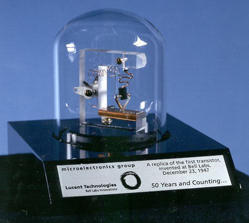 макет первого транзистора